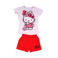 Ensemble Tee-shirt / Short de Plage Hello Kitty