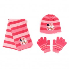 Ensemble Bonnet / Gants / Echarpe Minnie