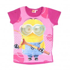 Tee-Shirt Manches Courtes Minions Peace and Love