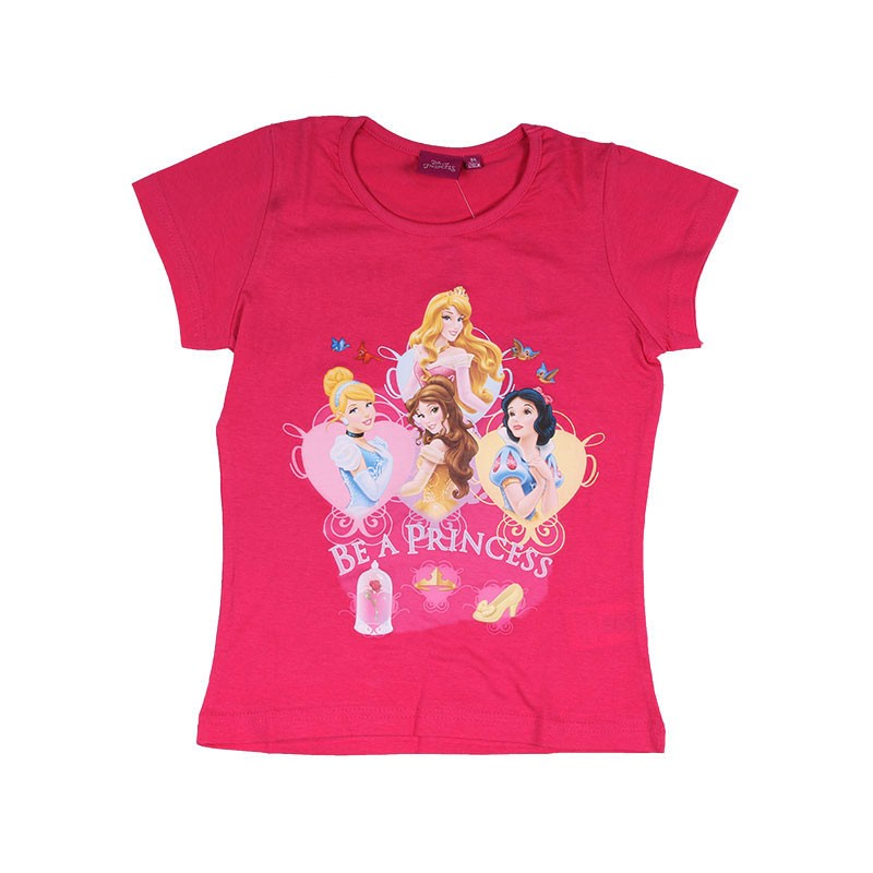 Tee-Shirt Manches Courtes Princesses Disney