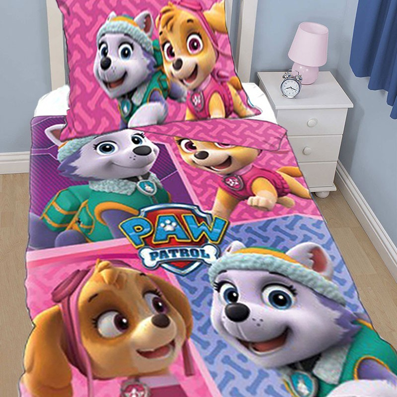 housse de couette paw patrol vente en gros des parure de lit paw patrol. Black Bedroom Furniture Sets. Home Design Ideas