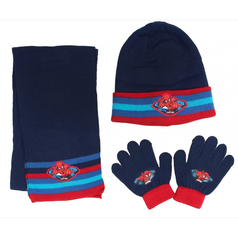 Ensemble de Gants Bonnet Echarpe Spiderman