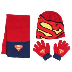 Ensemble de Bonnet Gants Echarpe Batman VS Superman