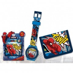 Set Montre et Portefeuille Spiderman