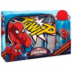 Sac Isotherme Spiderman avec gourde assortie