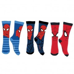 Lot de 3 Paires de Chaussettes Spiderman