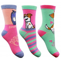 Lot de 3 Paires de Chaussettes Secret Life of Pets