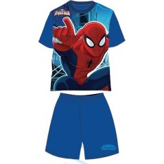 Pyjama Ensemble Tee-shirt / Short Spiderman - Bleu
