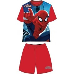 Pyjama Ensemble Tee-shirt / Short Spiderman - Rouge