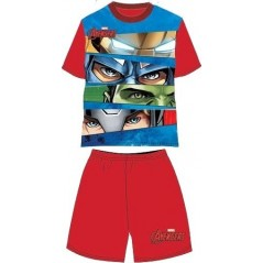 Ensemble Tee-Shirt Short Avengers Marvel - Rouge