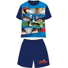 Ensemble Tee-Shirt Short Avengers Marvel - Marine