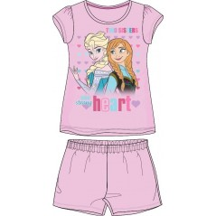 Pyjama Ensemble Tee-shirt Short La Reine Des Neiges - Frozen