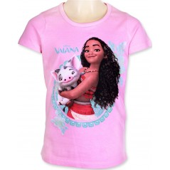 T-Shirt Manches Courtes Vaiana Disney - Rose