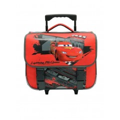 Cartable trolley avec roulettes Cars Disney