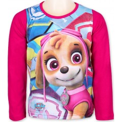 T-Shirt Paw Patrol Fille Manches Longues - Fuchsia