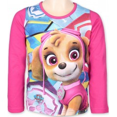 T-Shirt Paw Patrol Fille Manches Longues - Rose