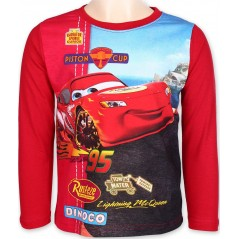 T-Shirt Cars Manches Longues - Rouge