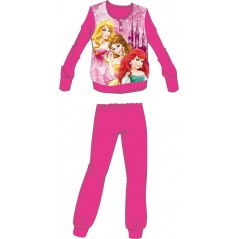 L'ensemble pyjama polaire Princesses - Fuchsia
