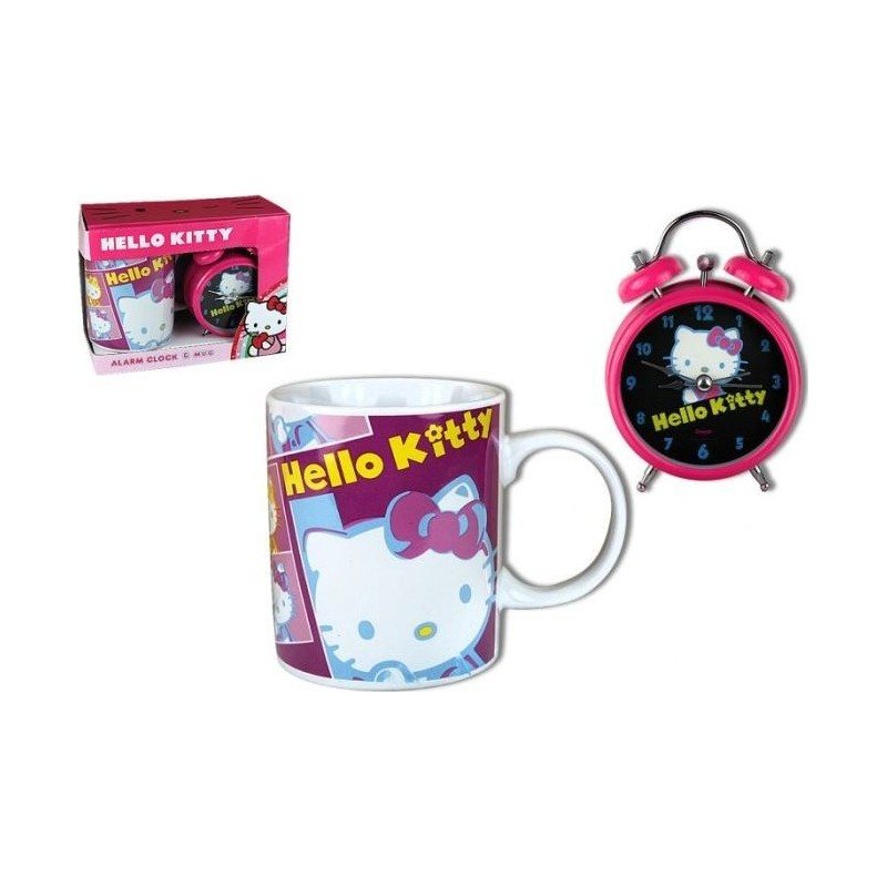 Coffret Mug + Reveil Hello Kitty