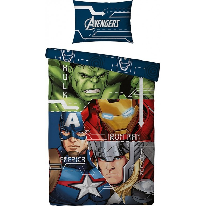 housse de couette avengers heros. Black Bedroom Furniture Sets. Home Design Ideas