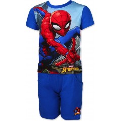 Ensemble Tee-shirt Spiderman / Short avec 2 poches Spiderman - Bleu