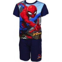 Ensemble Tee-shirt Spiderman / Short avec 2 poches Spiderman - Marine