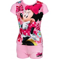 Ensemble T-shirt avec Short Minnie Disney - Rose