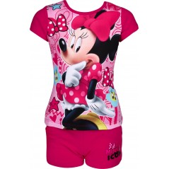 Ensemble T-shirt avec Short Minnie Disney - Fuchsia