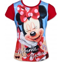 T-Shirt Manches courtes Minnie Disney - Rouge