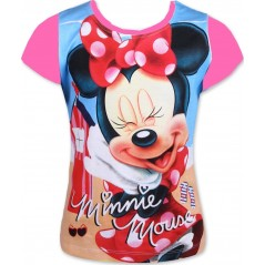T-Shirt Manches courtes Minnie Disney - Fuchsia