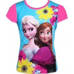 T-Shirt La Reine des Neiges - Rose