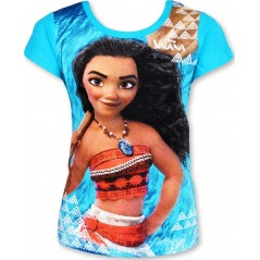 T-Shirt Manches courtes Vaiana Disney - Turquoise