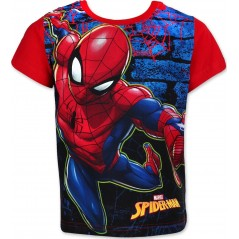 T-shirt Manches Courtes Spiderman - Rouge