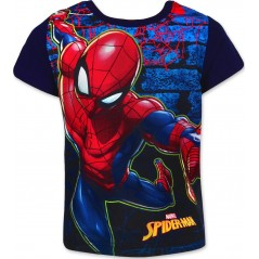 T-shirt Manches Courtes Spiderman - Marine