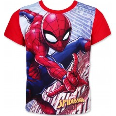 T-shirt Manches Courtes Spider-man - Rouge