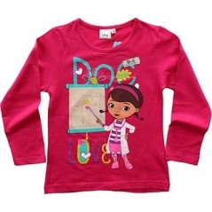 Doc Mc Stuffins Disney T-shirt manches longues - Fuchsia