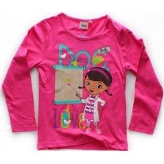 Doc Mc Stuffins Disney T-shirt manches longues - Rose