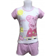 Pyjama Court Peppa Pig Fille - Rose