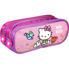 Trousse Hello Kitty rose avec 2 compartiments