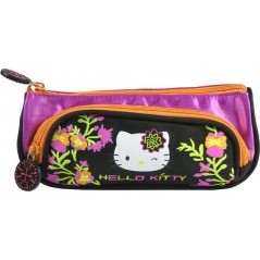 Trousse Hello Kitty noir avec 2 compartiments