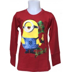 T-Shirt Manches Longues Minions - Rouge
