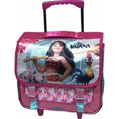 Cartable trolley avec roulettes Vaiana Disney