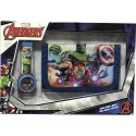 Set portefeuille + montre digitale Avengers Marvel