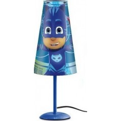 Lampe de Chevet Pjmasks 38 cm en forme conique - Bleu