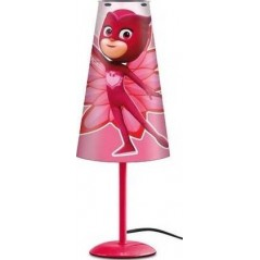 Lampe de Chevet Pjmasks 38 cm en forme conique - Fuchsia