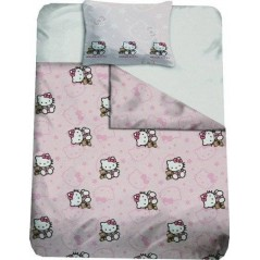 HOUSSE DE COUETTE + taie d'oreiller hello kitty