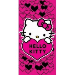 Serviette de Plage Coeur Hello Kitty