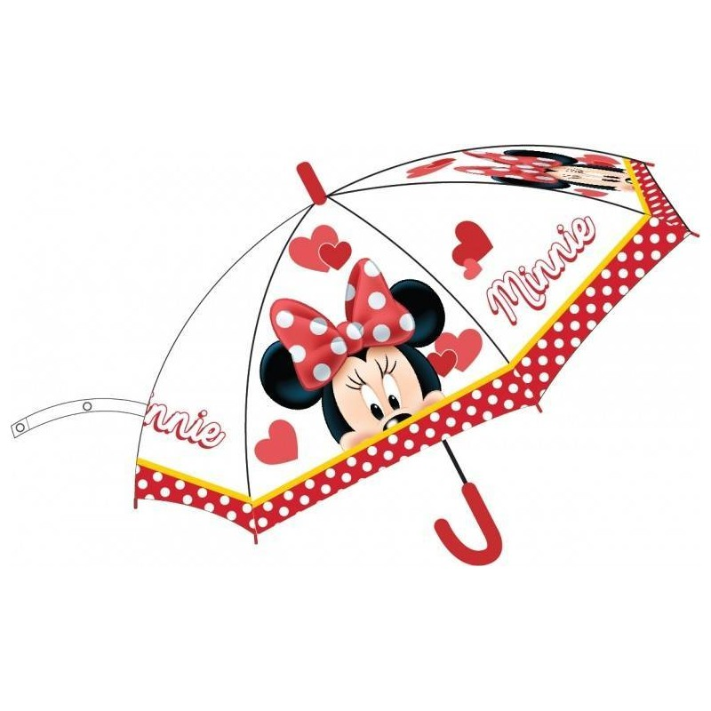 Parapluie Minnie Disney En Rouge Automatique
