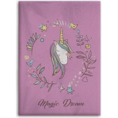 Plaid Polaire Licorne
