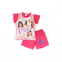 Pyjama Ensemble Tee-shirt / Short violetta